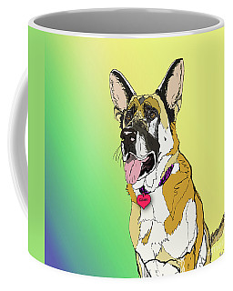 Coffee Mug featuring the painting Czaki In Digi by Ania M Milo