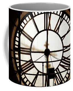 Coffee Mug featuring the photograph D And F Clocktower Face by Marilyn Hunt