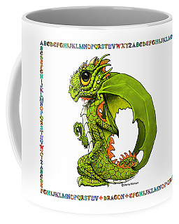 Coffee Mug featuring the digital art D Is For Dragon by Stanley Morrison