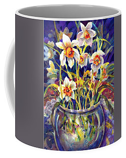 Daffodils And Lace Coffee Mug