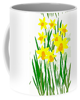 Daffodils Drawing Coffee Mug