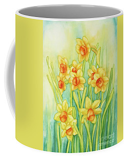 Daffodils In Yellow Coffee Mug by Inese Poga