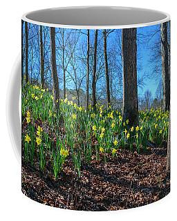 Daffodils On Hillside Coffee Mug