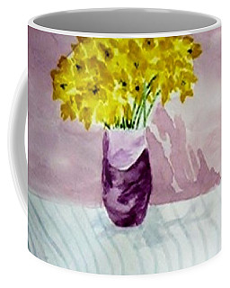 Coffee Mug featuring the painting Daffs by Jamie Frier