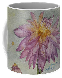 Coffee Mug featuring the painting Dahlia At Eastport Me by Donna Walsh