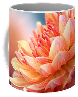 Dahlia Pink And Yellow Coffee Mug