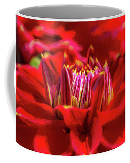Dahlia Study 1 Painterly Coffee Mug