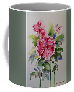 Dahlias Still Life Flowers Coffee Mug