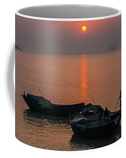 Daily Life Of Boatman Coffee Mug