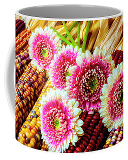 Daises On Indian Corn Coffee Mug