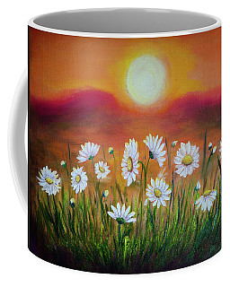 Daisies At Sunset Coffee Mug