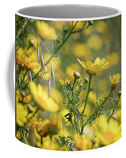 Coffee Mug featuring the photograph Daisies In Spring 2 by Michael Hope