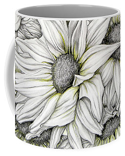 Sunflowers Pencil Coffee Mug