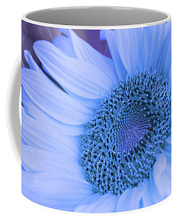 Coffee Mug featuring the photograph Daisy Blue by Marie Leslie