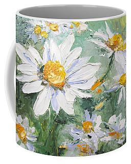 Daisy Delight Palette Knife Painting Coffee Mug by Chris Hobel