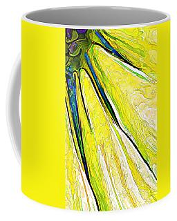 Daisy Petal Abstract In Lemon-lime Coffee Mug