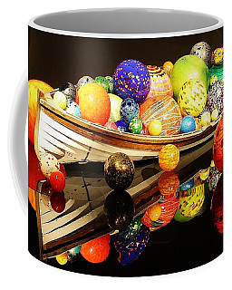 Glass Sculpture Boat Coffee Mug