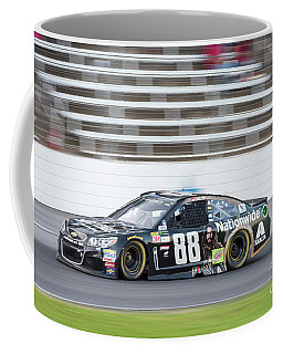 Dale Earnhardt Jr Running Hard At Texas Motor Speedway Coffee Mug