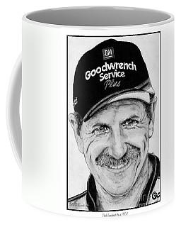 Coffee Mug featuring the drawing Dale Earnhardt Sr In 2001 by J McCombie
