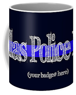 Dallas Police Dept. W Badge No. Coffee Mug