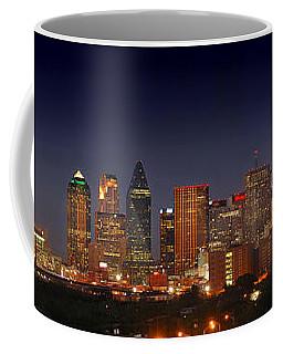 Dallas Skyline At Dusk  Coffee Mug