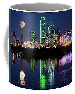 Dallas Skyline Reflection 91317 Coffee Mug