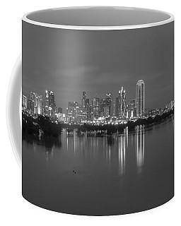 Dallas Skyline Trinity Black And White Coffee Mug
