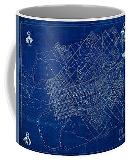 Dallas Texas Official 1875 City Map Blueprint Butterfield And Rundlett Coffee Mug