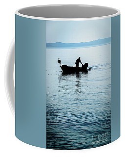 Dalmatian Coast Fisherman Silhouette, Croatia Coffee Mug