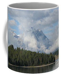 Coffee Mug featuring the photograph Dam Clouds by Greg Patzer