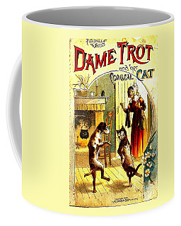 Coffee Mug featuring the painting Dame Trot And Her Comical Cat 1890 by Peter Gumaer Ogden Collection