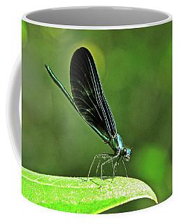 Damselfly On A Leaf Coffee Mug