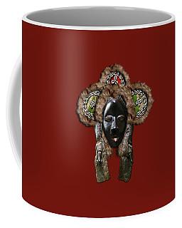 Dan Dean-gle Mask Of The Ivory Coast And Liberia On Red Leather Coffee Mug