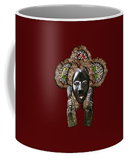 Dan Dean-gle Mask Of The Ivory Coast And Liberia On Red Velvet Coffee Mug