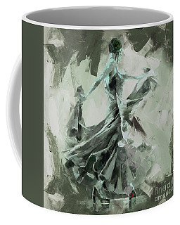 Coffee Mug featuring the painting Dance Flamenco Art  by Gull G