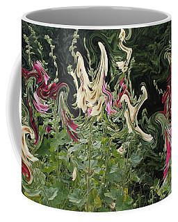 Dance Of The Hollyhock Fairies Coffee Mug by David and Lynn Keller