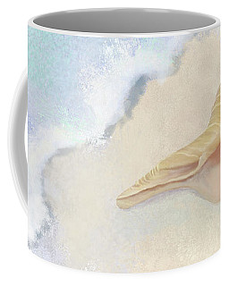 Coffee Mug featuring the painting Dance Of The Sea - Australian Trumpet Shell Impressionstic by Audrey Jeanne Roberts