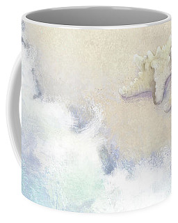 Coffee Mug featuring the painting Dance Of The Sea - Knobby Starfish Impressionstic by Audrey Jeanne Roberts