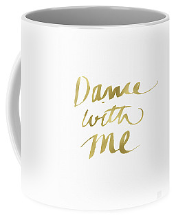 Dance With Me Gold- Art By Linda Woods Coffee Mug