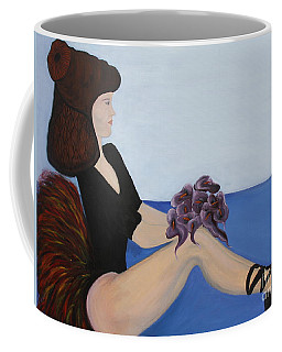 Coffee Mug featuring the painting Dancer With Calla Lillies by Jolanta Anna Karolska