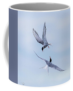 Dancing Arctic Terns Coffee Mug