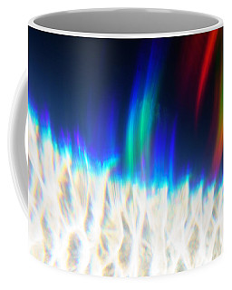 Coffee Mug featuring the photograph Dancing At The North Pole by Greg Collins