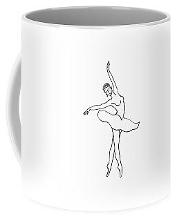 Dancing Ballerina Silhouette Coffee Mug