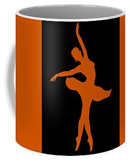 Dancing Ballerina White Silhouette Coffee Mug