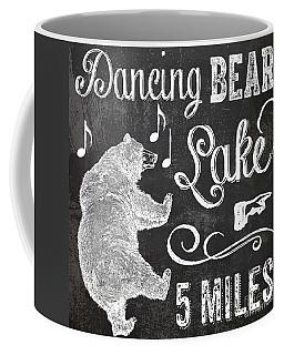 Dancing Bear Lake Rustic Cabin Sign Coffee Mug