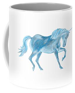 Dancing Blue Unicorn Coffee Mug by Elizabeth Lock