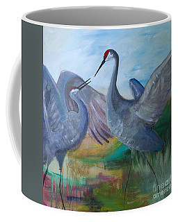 Dancing Cranes Coffee Mug by Robin Maria Pedrero
