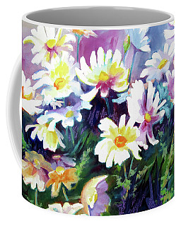Coffee Mug featuring the painting Dancing Daisies by Kathy Braud