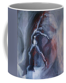 Coffee Mug featuring the painting Dancing Figure by Denise Fulmer