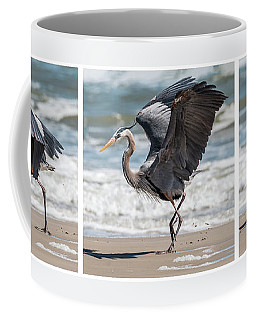 Dancing Heron Triptych Coffee Mug